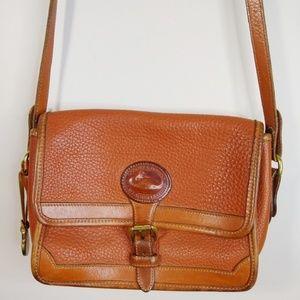Vintage Dooney&Bourke Leather Saddle Crossbody